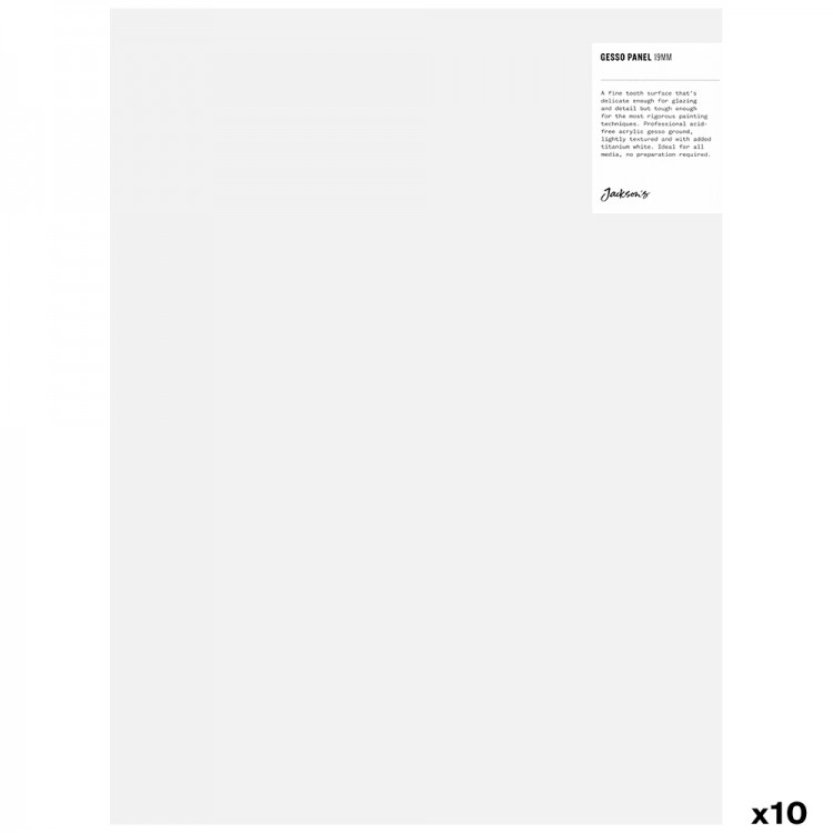 Jackson's : 19mm White Gesso Cradled Painting Panel : 12x16in : Box of 10