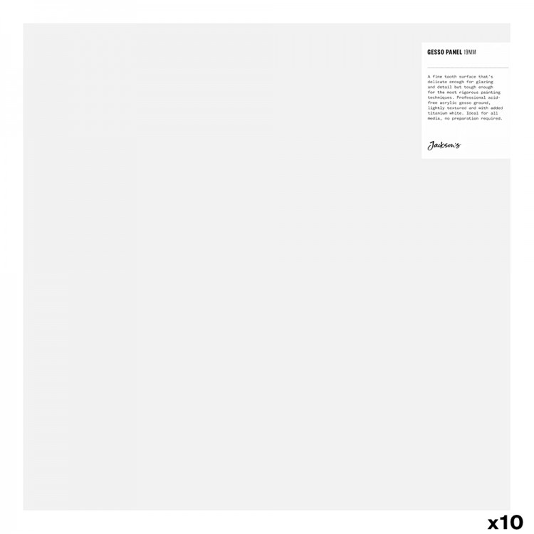 Jackson's : 19mm White Gesso Cradled Painting Panel : 14x14in : Box of 10