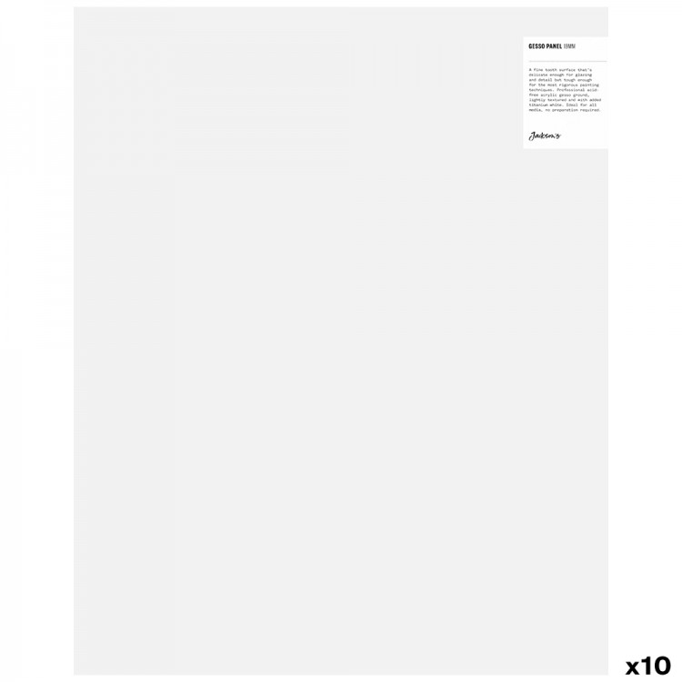 JAS : 19mm White Gesso Cradled Painting Panel : 16x20in : Box of 10
