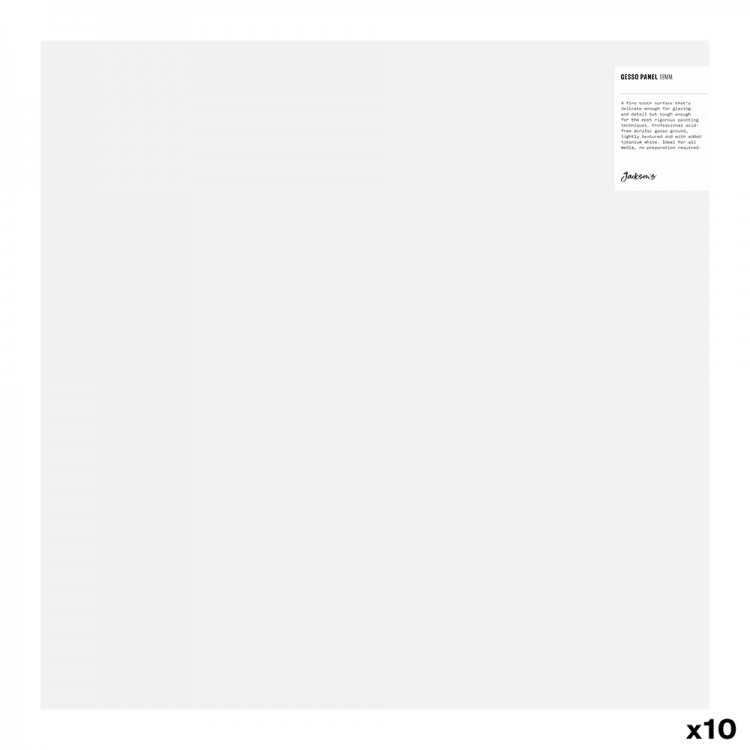 Jackson's Gesso Panel : White : 19mm : Cradled Pine and Birch Plywood : 18x18in : Box of 10