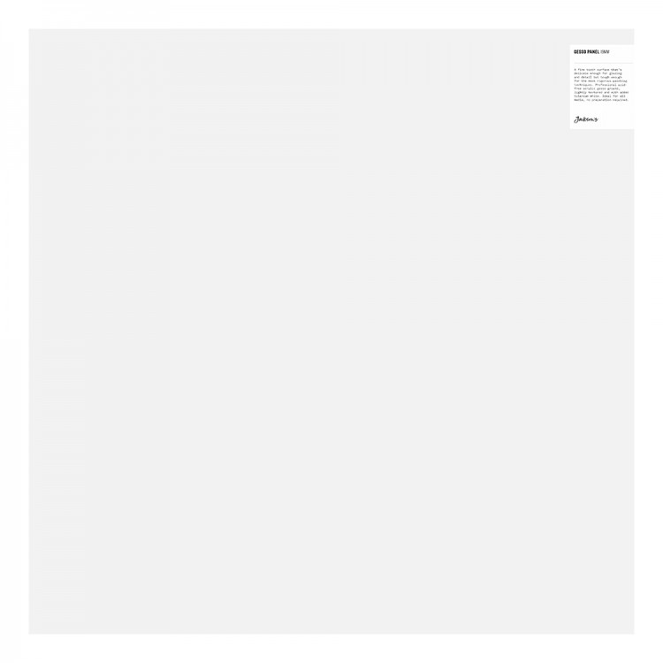 JAS : 19mm White Gesso Cradled Painting Panel : 24x24in