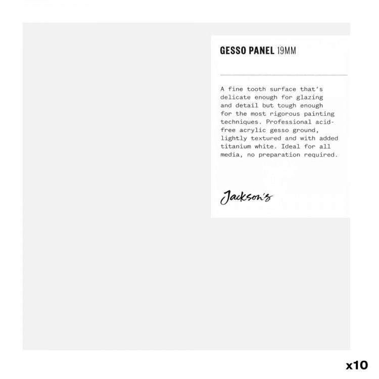 Jackson's : 19mm White Gesso Cradled Painting Panel : 6x6in : Box of 10