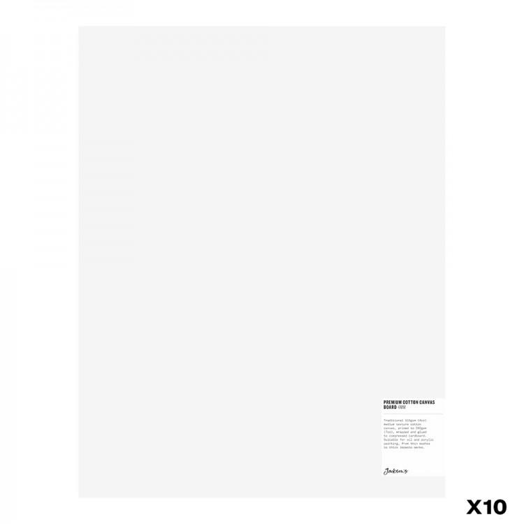 Jackson's : Box of 10 : Premium Cotton Canvas Art Board 4mm : 14x18in (Apx.35x45cm)