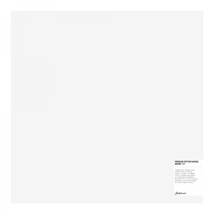 Jackson's : Single : Premium Cotton Canvas Art Board 4mm : 16x16in (Apx.40x40cm)