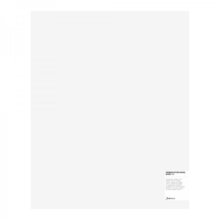 Jackson's : Single : Premium Cotton Canvas Art Board 4mm : 16x20in (Apx.40x50cm)