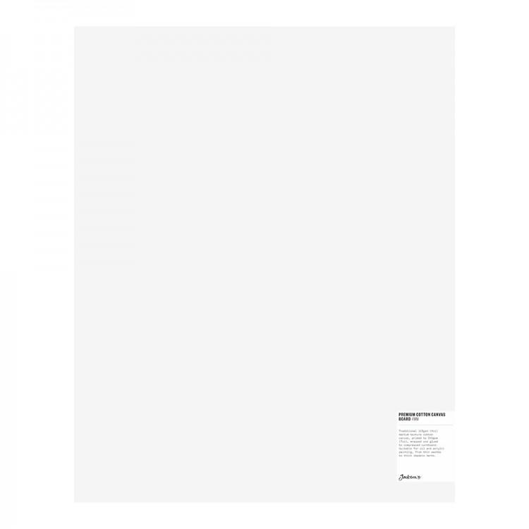 Jackson's : Single : Premium Cotton Canvas Art Board 4mm : 16x20in (Apx.40x50cm)