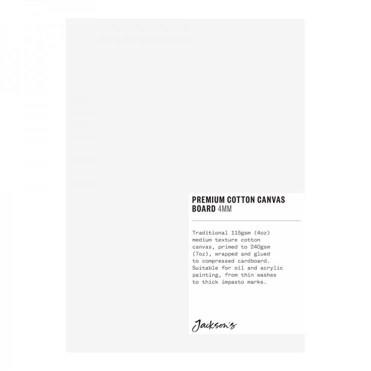 Jackson's : Single : Premium Cotton Canvas Art Board 4mm : 5x7in (Apx.13x18cm)