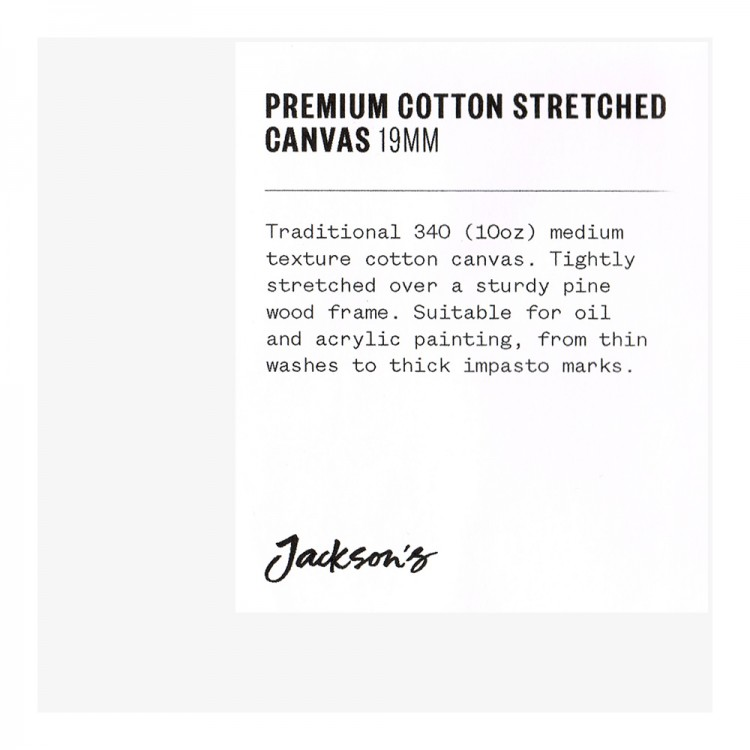 Jackson's : Single : Premium Cotton Canvas : 10oz 19mm Profile 10x10cm (Apx.4x4in)