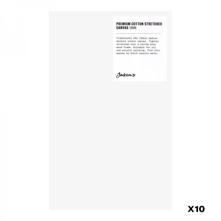 Jackson's : Box of 10 : Premium Cotton Canvas : 10oz 19mm Profile 16X25.9cm : GS