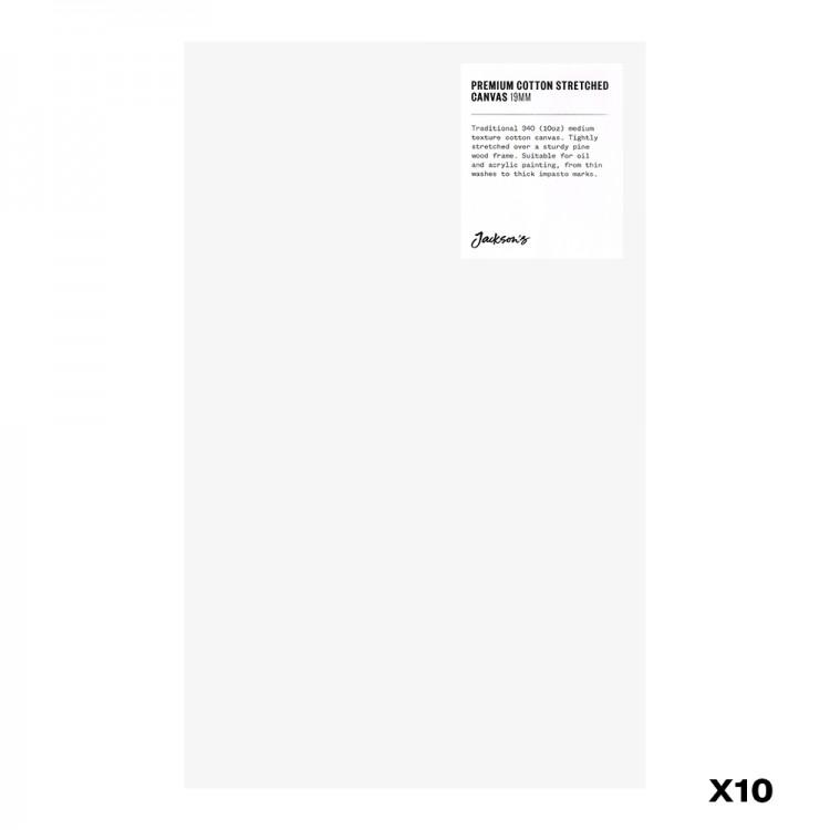 Jackson's : Box of 10 : Premium Cotton Canvas : 10oz 19mm Profile 20x32.4cm : GS