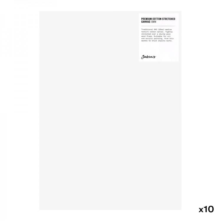 Jackson's : Box of 10 : Premium Cotton Canvas : 10oz 19mm Profile 25x35cm (Apx.10x14in)