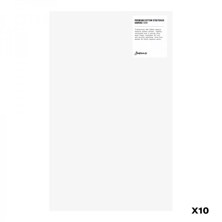 Jackson's : Box of 10 : Premium Cotton Canvas : 10oz 19mm Profile 25x40.5cm : GS