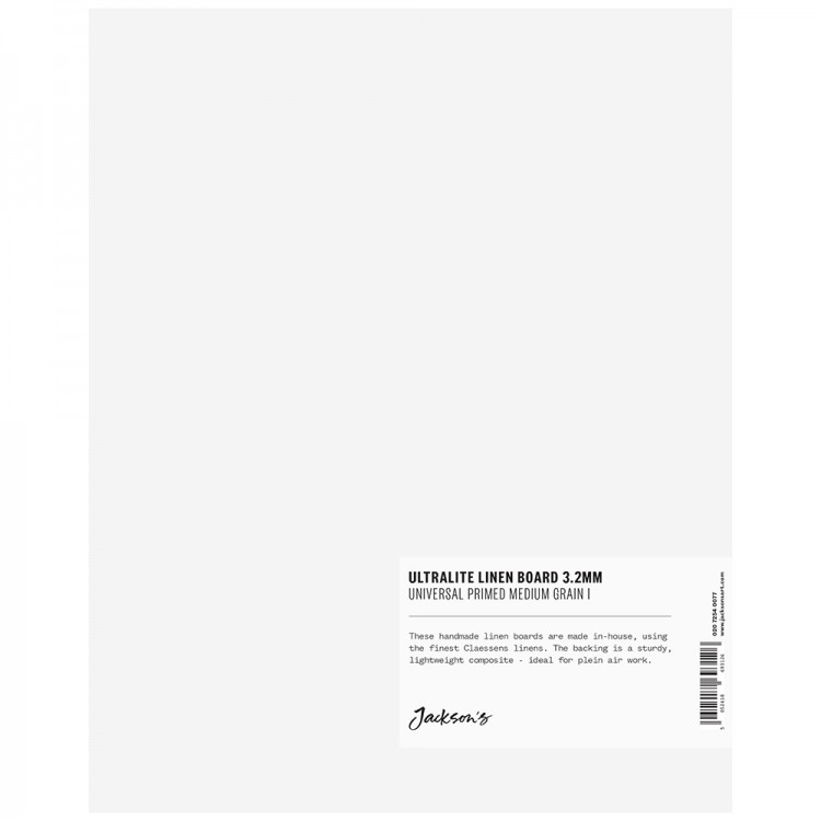 Jackson's : 3.2mm : Ultralite Linen Board : 8x10in : Claessens 166 Medium Surface : Universal Primed : 415gsm
