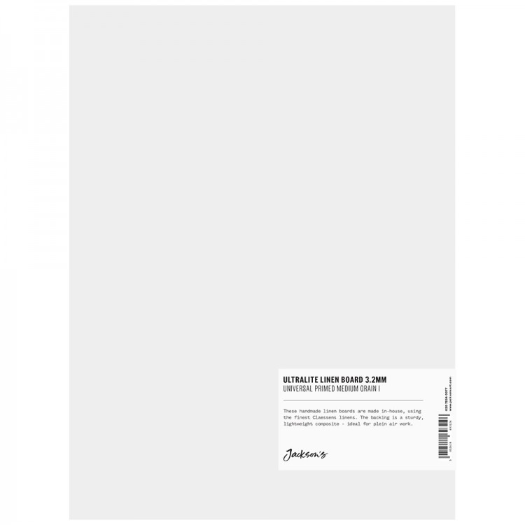 Jackson's : 3.2mm : Ultralite Linen Board : 9x12in : Claessens 166 Medium Surface : Universal Primed : 415gsm
