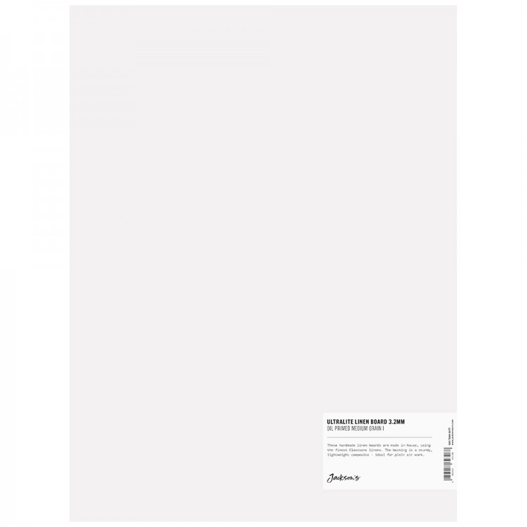 Jackson's : 3.2mm : Ultralite Linen Board : 12x16in : Claessens 66 Medium Surface : Oil Primed : 460gsm