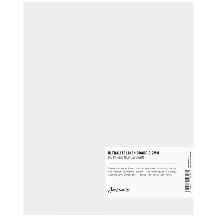 Jackson's : 3.2mm : Ultralite Linen Board : 8x10in : Claessens 66 Medium Surface : Oil Primed : 460gsm