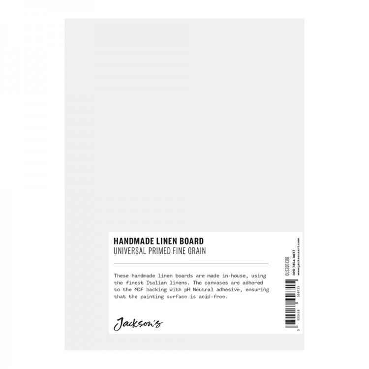 Jackson's : Handmade Boards : Universal Primed Fine Linen CL535 on MDF Board : 13x18cm