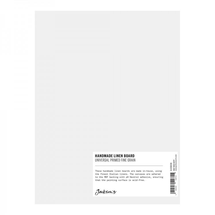 Jackson's : Handmade Board : Universal Primed Fine Linen CL535 on MDF Board : 18x24cm