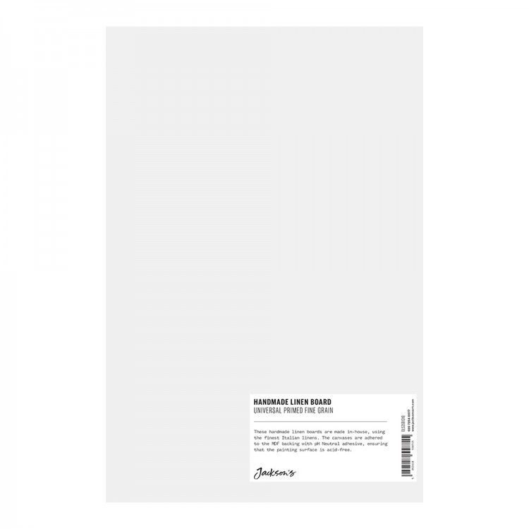 Jackson's : Handmade Boards : Universal Primed Fine Linen CL535 on MDF Board : 20x30cm