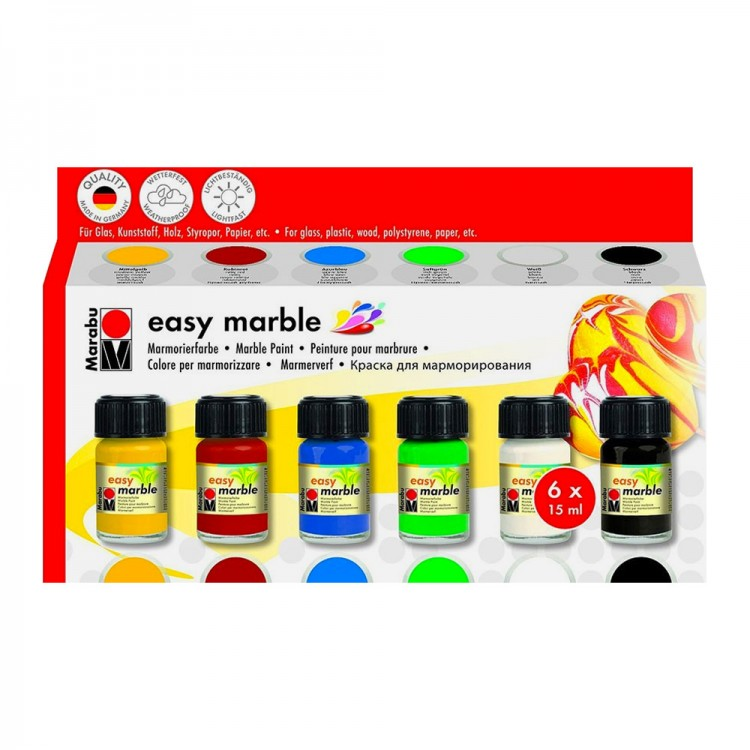 Marabu : Easy Marble : Assorted Set : By Road Parcel Only
