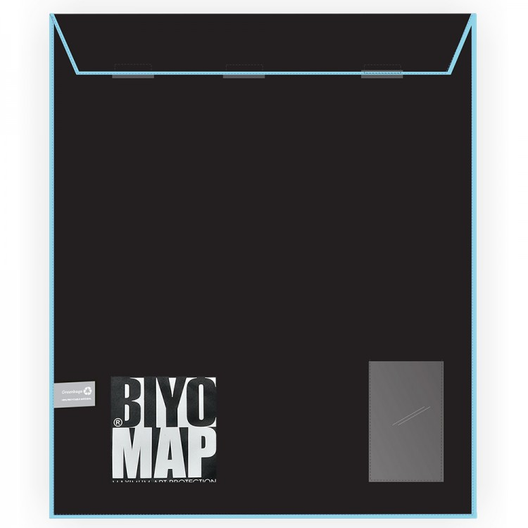 Biyomap : Reusable Artwork Shipping and Storage Bag : 40x50cm (Light Blue)