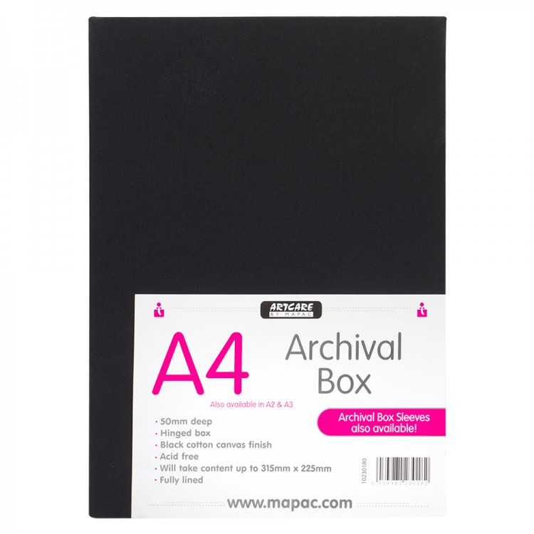 Mapac : Archival Box : A4 : Black