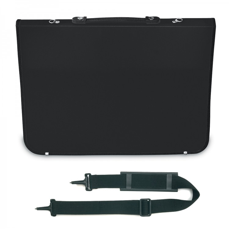 Mapac : A2 Academy Portfolio : Black : Shoulder Strap Included