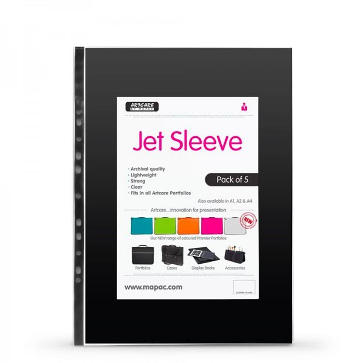 Mapac : A4 Jet Archival Portfolio Sleeve : 80 Micron : 5 Pack