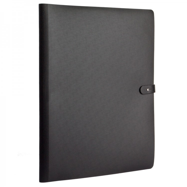 Prat : Pampa : Spiralbook Portfolio : 30x42cm : With 20 Polypropylene Sleeves : Black