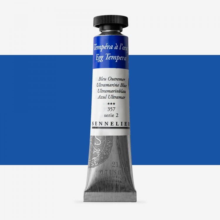 Sennelier : Egg Tempera Paint : 21ml : Ultramarine Blue