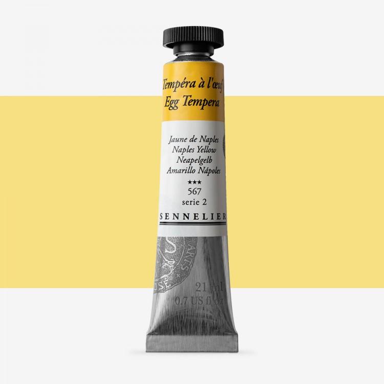 Sennelier : Egg Tempera Paint : 21ml : Naples Yellow