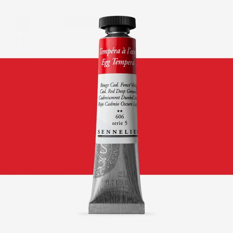 Sennelier : Egg Tempera Paint : 21ml : Cadmium Red Deep