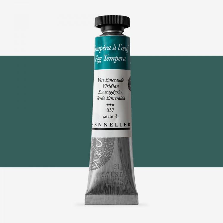 Sennelier : Egg Tempera Paint : 21ml : Viridian