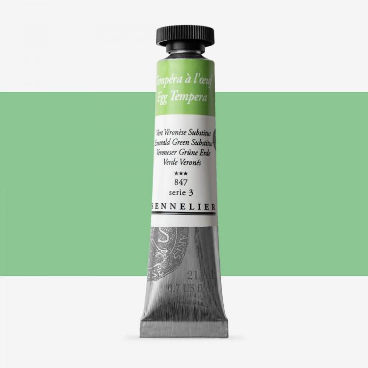 Sennelier : Egg Tempera Paint : 21ml : Emerald Green