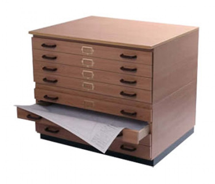 Vistaplan : Wooden Traditional Planchest : 9 Drawer A1 available in Grey : Light Oak : UK Only