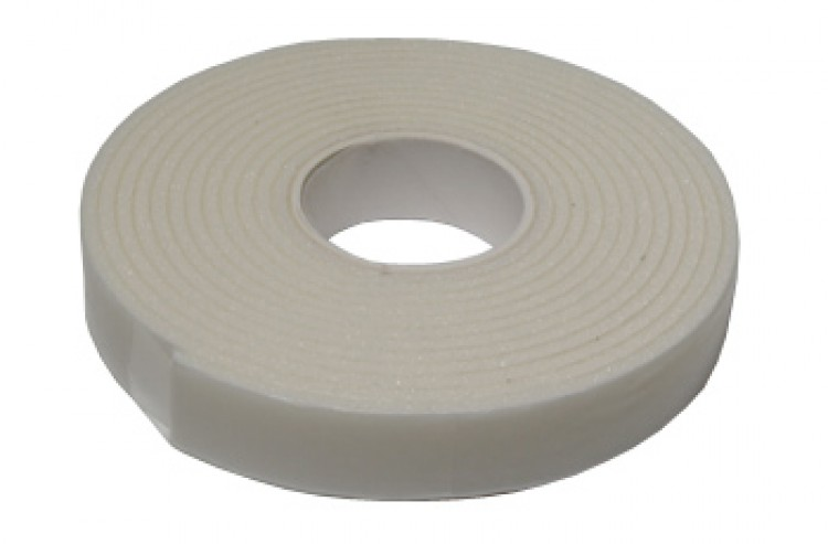 White Craft Foam Tape : Double Sided 2mm Thickness : 12mm x 2m