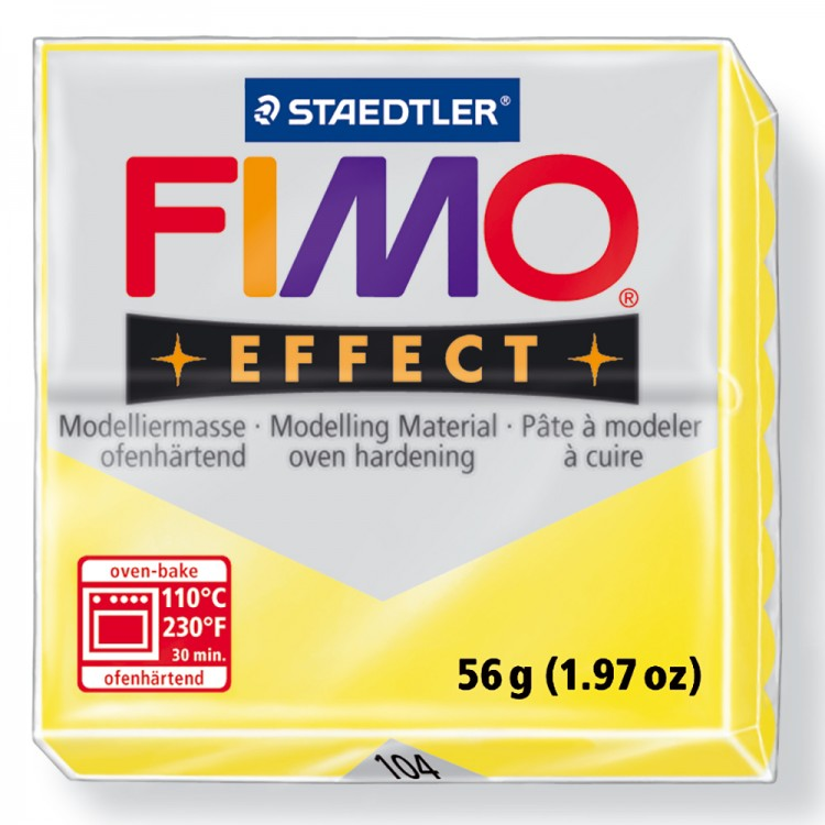 Staedtler : Fimo Effect : 57g Translucent Yellow