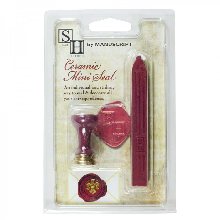 Manuscript : Calligraphy : Fleur De Lys Seal & 1 Red Wax Set