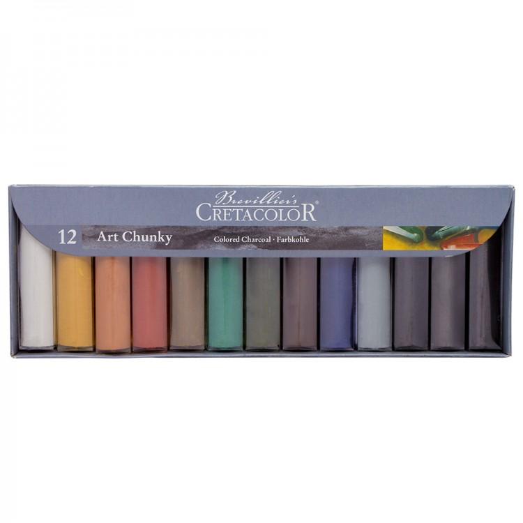 Cretacolor : Art Chunky Coloured Charcoal set of 12
