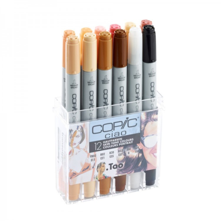 Copic : Ciao Marker : Skin Tones : Set of 12