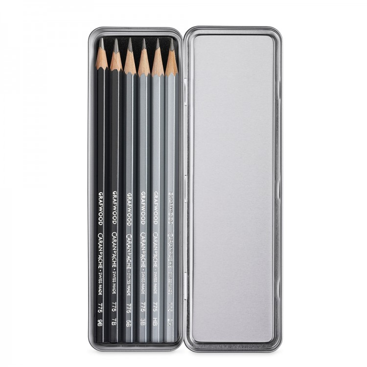 Caran d'Ache : Graphite Line Pencils : Set of 6 Metal Box