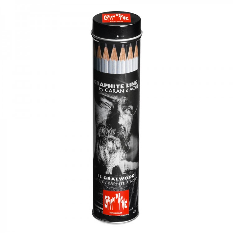 Caran d'Ache : Graphite Line Pencils : Set of 15 Metal Cylinder