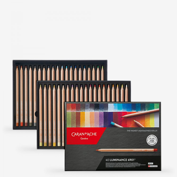 Caran d'Ache : Luminance 6901 : Colour Pencil : Set of 40
