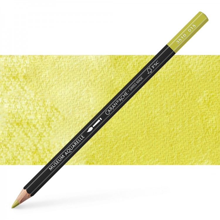 Caran d'Ache : Museum Aquarelle Pencil : Olive Yellow