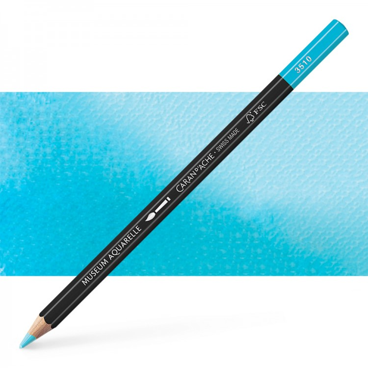 Caran d'Ache : Museum Aquarelle Pencil : Light Blue