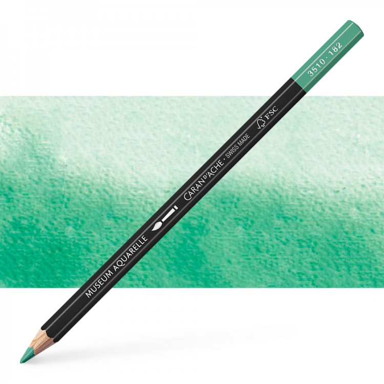 Caran d'Ache : Museum Aquarelle Pencil : Cobalt Green