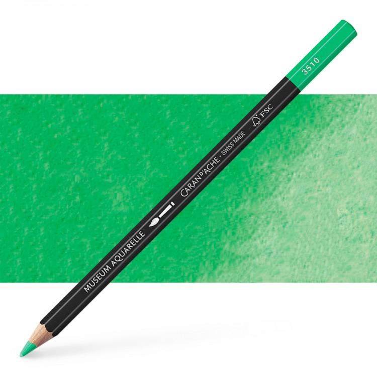 Caran d'Ache : Museum Aquarelle Pencil : Emerald Green