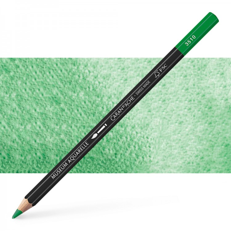 Caran d'Ache : Museum Aquarelle Pencil : Chrom. Oxyde Green