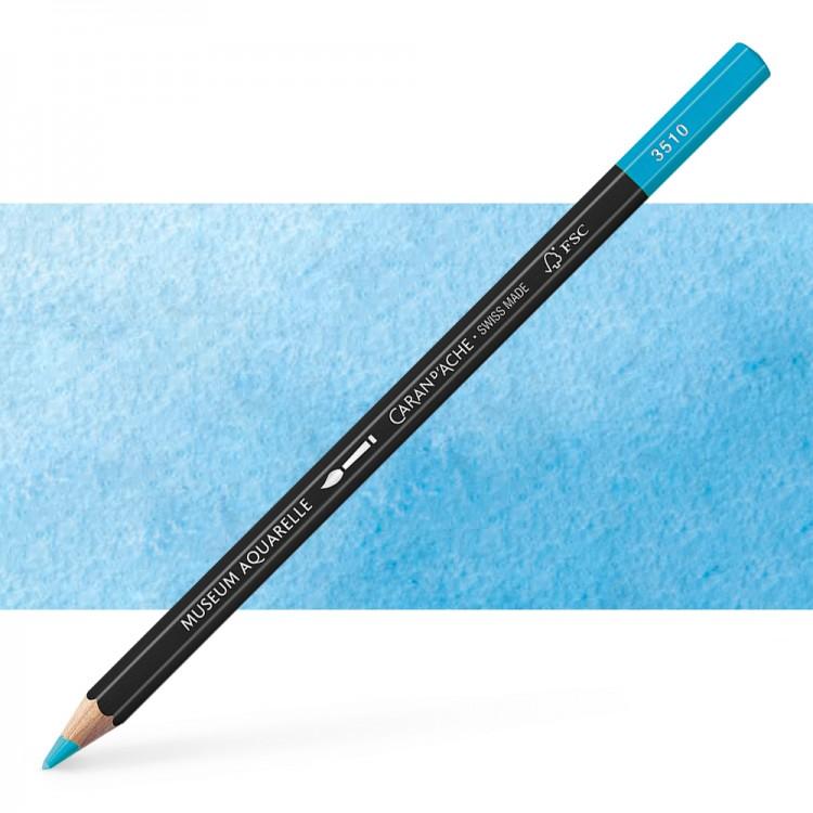 Caran d'Ache : Museum Aquarelle Pencil : Light Cobalt Blue