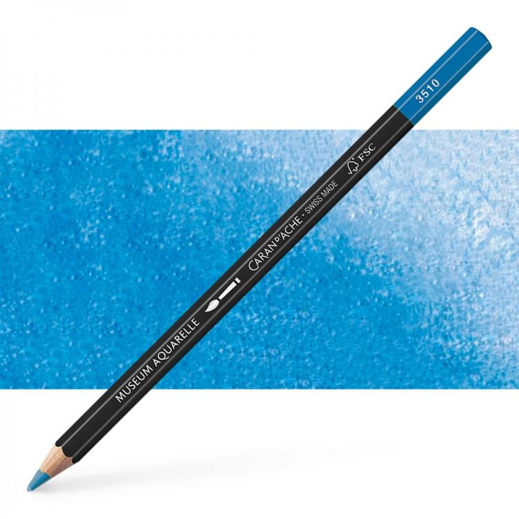 Caran d'Ache : Museum Aquarelle Pencil : Genuine Cobalt Blue